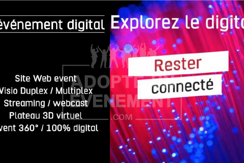 EVENEMENT DIGITAL STREAMIG STUDIO TV DISTANCIEL ET PRESENTIEL | adopte-un-evenement
